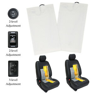 Carbon Fiber Universal Car Heated Seat Heater Kit 2 dial 5 level Switch