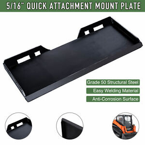 5 16 Quick Attachment Mount Plate For Bobcat Kubota Skid Steer Trailer Adapter