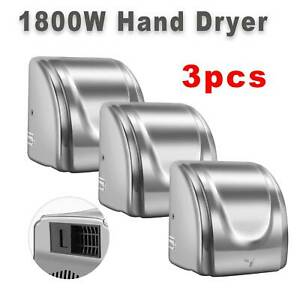 Stainless Steel Automatic Commercial Electric Hand Dryer Hot Air Hand Blower3pcs