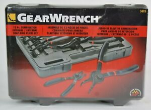 Gear Wrench 3495 12 Piece Master Snap Ring Pliers Set External And Internal