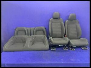 2015 2017 Ford Mustang Gt Ecoboost Cloth Seat Set Front Rear W Bags Oem