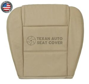 2005 2009 Ford Mustang Base Convertible V6 Driver Bottom Leather Seat Cover Tan