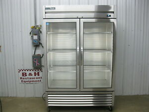 True T 49g hc Fgd01 Glass Two 2 Door Commercial Refrigerator Cooler 2018 Model