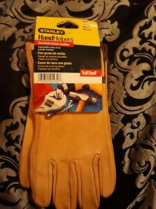Stanley Cowhide Grain Leather Work Gloves Medium