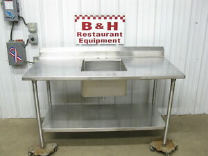 60 Stainless Steel Heavy Duty Kitchen Work Table W 18 Prep Hand Sink 5