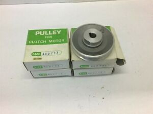 Pulley For Clutch Motor 490713 1 2 Bore 2 15 16 Od Lot Of 4