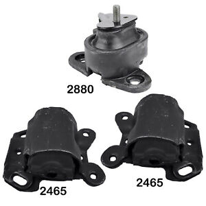 Full Engine Transmission Mounts Set 3pcs For Chevrolet Camaro 93 95 V6 3 4l
