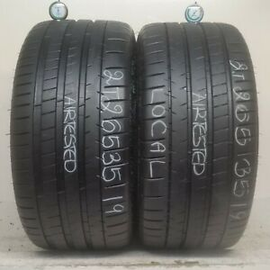 No Shipping Only Local Pick Up 2 Tires 265 35 19 Michelin Pilot Super Sport