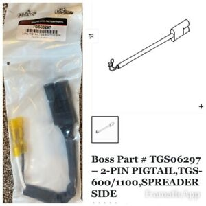 Boss Genuine Tgs06297 Tailgate Spreader Harness Repair End 2 Pin Pigtail Tgs600