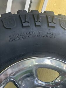 5 Mickey Thompson Tires 37x12 50x17 With Dodge Wheels