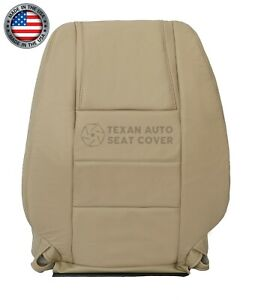 2005 2006 2007 Ford Mustang Coupe V6 driver Lean Back Leather Seat Cover Tan