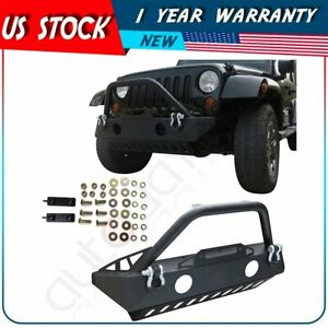 For Jeep Wrangler Jk 07 18 Front Bumper Proector Assembly Pickup