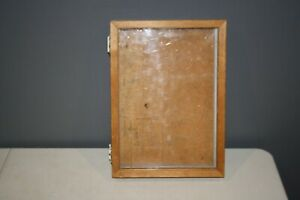 Vintage Hand Made Wood Portable Display Case 11 1 2 X 16 X 2 3 4