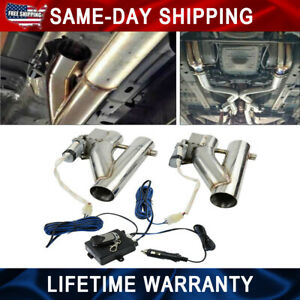 2in1 3 0 Electric Exhaust Downpipe E cutout Cut Out Dual Valve Remote Wireless