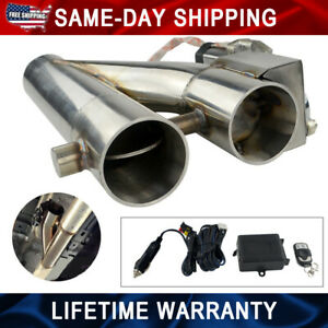 Universal 2 5 Electric Exhaust Downpipe Cutout E Cut Out Dual Valve Remote Wire