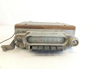 Vtg 1960 S Deluxe Push Button Auto Car Dash Am Tube Radio Ford Mercury Hot Rod