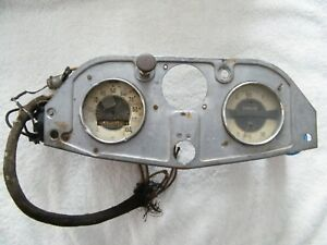 Antique Vintage Ac Spark Plug Co Dash Guage Cluster Speedometer Oil Gas Rat Rod