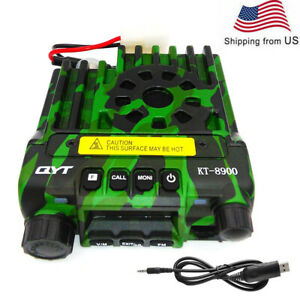 Qyt Kt 8900 Camo Dual Band Mobile Transceiver 25w Mini Walkie Talkie Usb Cable