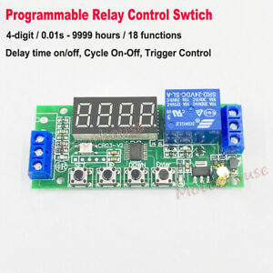 Digital Led Multifunction Delay Time Turn On off Timing Cycle Timer Relay Switch