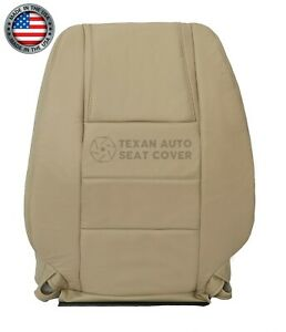 2005 2006 2007 Ford Mustang Coupe V6 Driver Lean Back Leatherette Seat Cover Tan