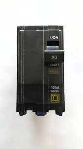Square D Qo220 2 pole 20 amp 120 240v Plug in Circuit Breaker