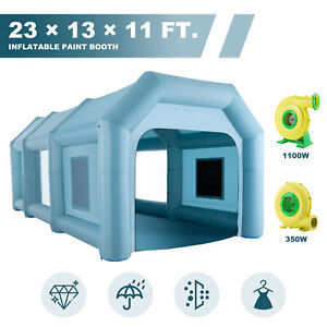 231311 Ft Inflatable Paint Booth Portable Spray Paint Car Tent With Air Pumps