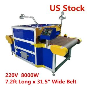 220v 8000w Conveyor Tunnel Dryer 7 2ft Long X 31 5 Wide Belt Overall