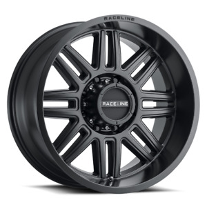 Raceline 948b Split 17 Inch 6x139 7 4 Wheels Rims 17x8 5 0mm Black