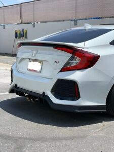Fits 17 21 Honda Civic 10th Gen 4dr Si Type R Rear Diffuser Pp Plastic Unpaint