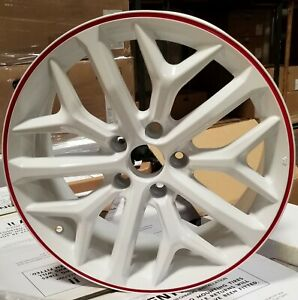 18 Wheels White Red Rims Si Style Fit 5x114 3 Honda Accord Civic Sedan Coupe