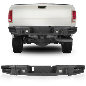 Rear Bumper Textured With 20w Led Lights Black For 2010 2018 Dodge Ram 2500 3500