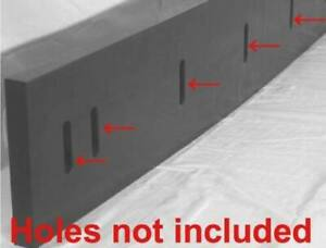 Urethane Snow Plow Blade edge 1 2 x 6 X36 Black outlast Rubber surface Saver