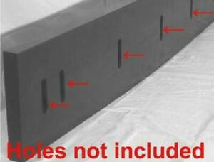 Urethane Snow Plow Blade edge 1 2 x 6 X48 Black outlast Rubber surface Saver