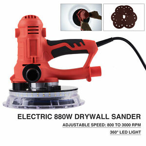 880w Electric Drywall Sander Wall Grinding Automatic Vacuum System And Led Light
