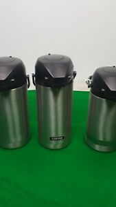 Set Of 3 Coffee Dispensers Hot Drink Tea Water Commercial Catering