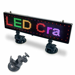 Car Led Sign Rgb Programmable Rear Window Scrolling Message Display Screen Board