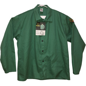 New Black Stallion Xl Green Flame Resistant Welding Shirt Fr Top Extra Large