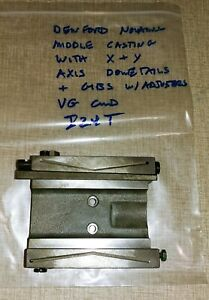 Denford Novamill Cnc Mill Parts Middle Casting Dovetail X Y Axis Gibs I24t