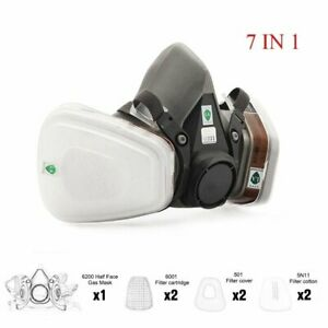 Half Face Painting Spraying Respirator 6200 Gas Mask 7 In 1 Suit Safety Work