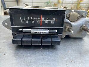 Fomco Indash Radio Dash 1960s 1970s Ford Chrysler Am Fm Mercury 23869
