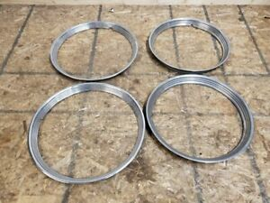 1940 1948 Ford Mercury Hubcap Trim Ring Set Great Condition