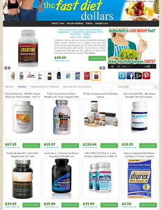 Ebay Amazon Clickbank Affiliate Website Weight Loss Products Autoupdate