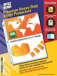 Clear Sheet Protector Heavy Duty 8 5 X 11 Acid Free Binder Accessories 500pack