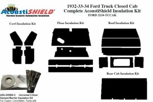 1932 1934 Ford Truck Closed Cab Complete Acoustic Insulation Kit