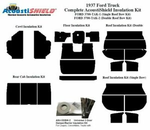1937 Ford Truck With Double Headliner Roof Bow Complete Acoustic Insulation Kit