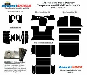 1957 1960 Ford Truck Panel Delivery Complete Acoustic Insulation Kit