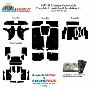 1957 1958 Mercury Convertible Complete Acoustic Insulation Kit