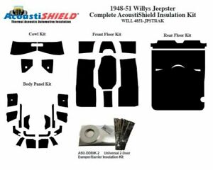 1948 1951 Willys Jeepster Complete Acoustic Insulation Kit