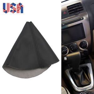 Gear Shift Boot Cover Black Leather Fits For 2005 2010 Hummer H3 H3t Automatic