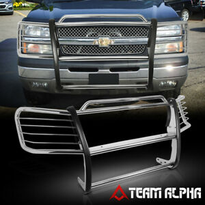 Fit 2002 2006 Chevy Avalanche 1500 Stainless Steel 1 5 Bumper Grille Brush Guard